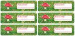 Postcard ID sticker paddestoel