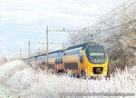 ansichtkaart NS trein Verlengd InterRegio Materieel, train postcard NS train, Zug Postkarte NS