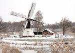 ansichtkaart spinnenkop molen de Wicher in Kalenberg, winter mill postcard, Mühle Postkarte winter