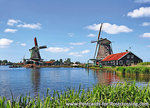 ansichtkaart de Zaanse Schans in Zaandam, postcard Zaanse Schans, Postkarte Zaanse Schans