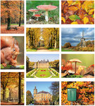 Postkaarten / ansichtkaarten set herfst
