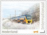 Postzegels 5 x Internationaal trein in de winter