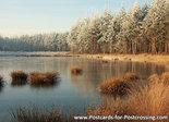 ansichtkaart winter Bakkeveen, postcardwinter landscape Bakkeveen, Postkarte winter landschaft Bakkeveen