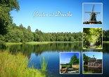 Ansichtkaart landschappen in Drenthe, Postcard landscapes in Drenthe, Postkarte Landschaft in Drenthe