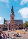 Ansichtkaartkaasmarkt in Alkmaar, postcard Cheese market - Alkmaar, Postkarte Käsemarkt - Alkmaar