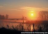 ansichtkaart zonsopkomst in de winter, winter postcard sunrise , Winter Postkarte Sonnenaufgang