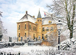 ansichtkaart kasteel Vorden in de winter, postcard castle Vorden in winter, Postkarte Schloss Vorden im Winter