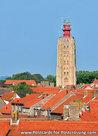ansichtkaartvuurtoren 't Hoge Licht Westkapelle, postcard lighthouse Westkapelle, postkarte leuchtturm Westkapel