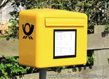 Ansichtkaart brievenbus Duitse Post, postcard mailbox German Post, postkarte briefkasten Deutsche Post