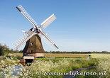ansichtkaart molen de Eendracht Sebaldeburen, mill postcard, Mühle Postkarte