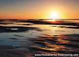 ansichtkaart zonsondergang Texel, postcard sunset Texel, Postkarte Sonnenuntergang Texel