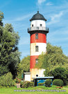 ansichtkaartvuurtoren Brinkamahof Bremerhaven, postcard lighthouse Brinkamahof, postkarte leuchtturm Brinkmahof