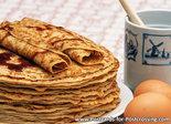 ansichtkaart pannenkoeken kaart, postcard pancakes, postkarteeierkuchen, Pfannkuchen