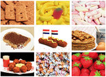 Ansichtkaarten set eten en snoep