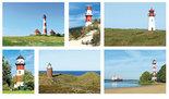 kaartenset Duitse vuurtorens - Postcard German lighthouses - Postkarten Set Deutsch Leuchttürme