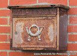 Ansichtkaart brievenbus, mailbox postcard, Postkarten Deutschland Postkarte Briefkasten