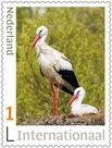 Postzegels Internationaal Ooievaars