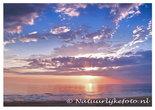 Ansichtkaart zonsondergang Noordzee, postcard sunset North sea, Nordsee Postkarten Sonnenuntergang