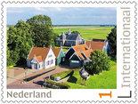 Postzegels 5 x Internationaal Unesco Schokland