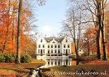 Herfstkaarten, ansichtkaart kasteel Staverden in herfst, postcard castle Staverden in autumn, postkarte Schloss Staverden