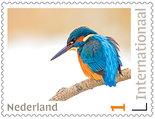 Postcrossing postzegels - ijsvogel