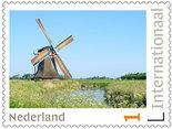 Postzegels voor Postcrossing - molen