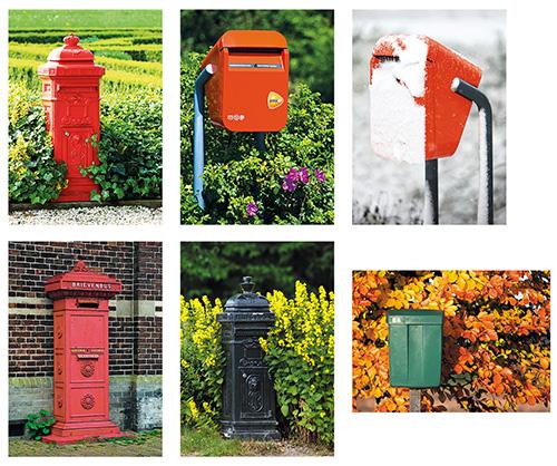 Postkartenset briefkasten