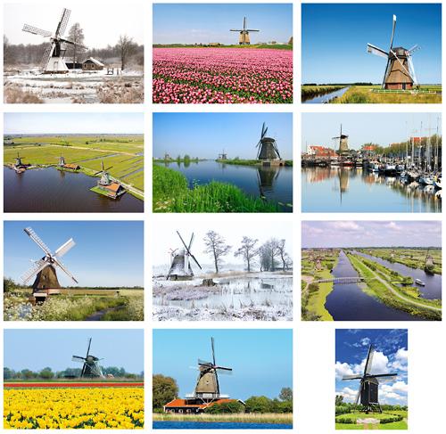 Postkarten Set Mühlen