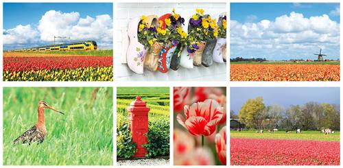 Postkarten Set Niederländischen