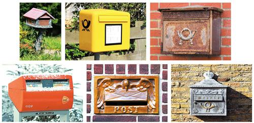 Postkarten Set Briefkasten