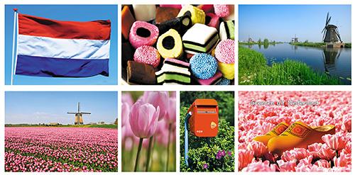 postkartenset typisch Niederländischen