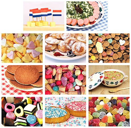 Postkarten Set essen und Süßigkeiten
