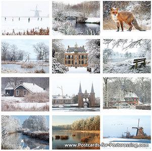 Postkarten Set Winter (88)