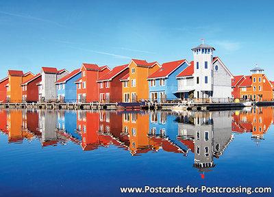 Ansichtkaart van Reitdiep haven in Groningen