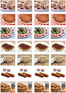 Eten stickervel voor Postcrossing