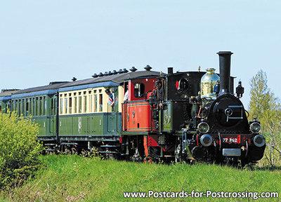 trein ansichtkaart Stoomlocomotief NS 7742, train postcard Steam Locomotive NS 7742, Zug Postkarte NS 7742