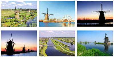 Postkaarten / ansichtkaarten set Kinderdijk
