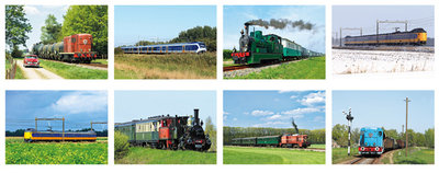 kaartenset treinen, train postcard set,  Postkarten Set Züge