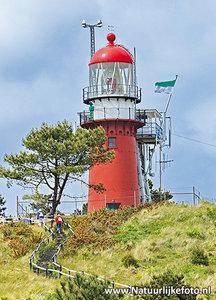 Ansichtkaart vuurtoren Vlieland, Leuchtturm Postkarte Vlieland