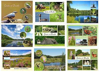 ansichtkaarten Drenthe - ansichtkaarten set - postkaarten