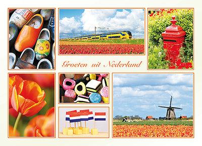 Ansichtkaart / postkaart groeten uit Nederland