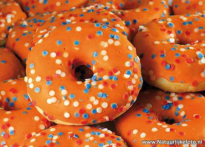 Oranje donuts ansichtkaart