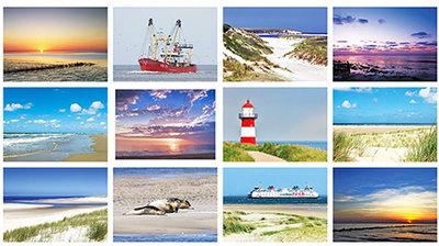 postkarten set strand und meer