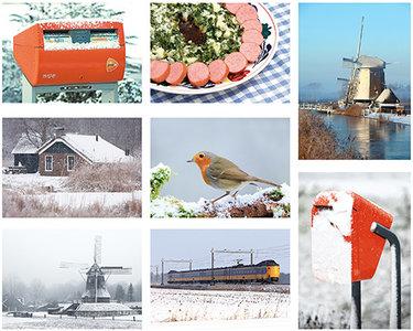 Postkarten set winter Niederländisch