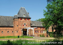 ansichtkaart kasteel Doorwerth, postcard castle Doorwerth, Postkarte Schloss Doorwerth